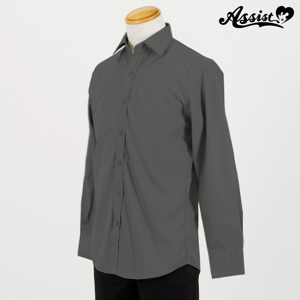 Color Shirt (Left Front / Long Sleeve) Gray