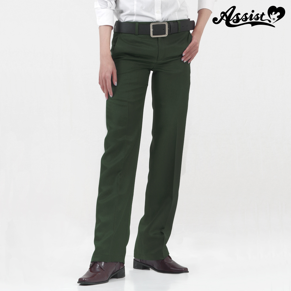 Color slacks khaki
