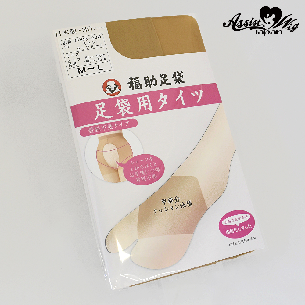 Tights for socks panty less type M