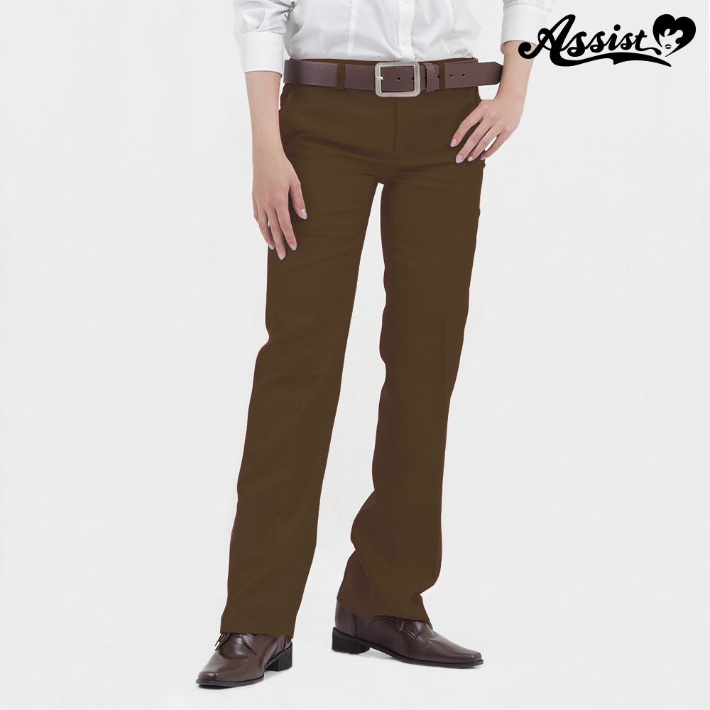 Color slacks Brown