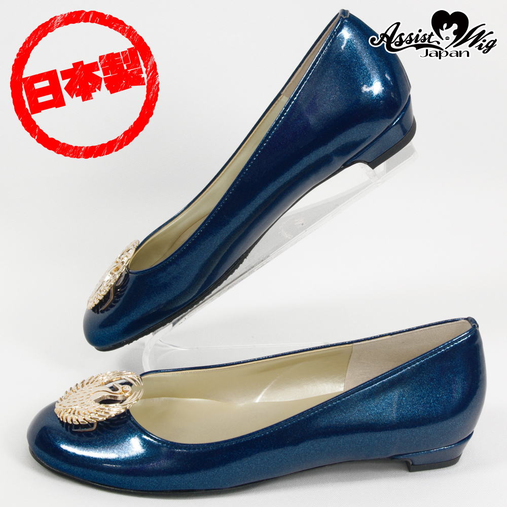 ■ Discontinued ■ Crest Pumps Sengoku Bushido Series Mori Ranmaru Model Metallic Navy (enamel)