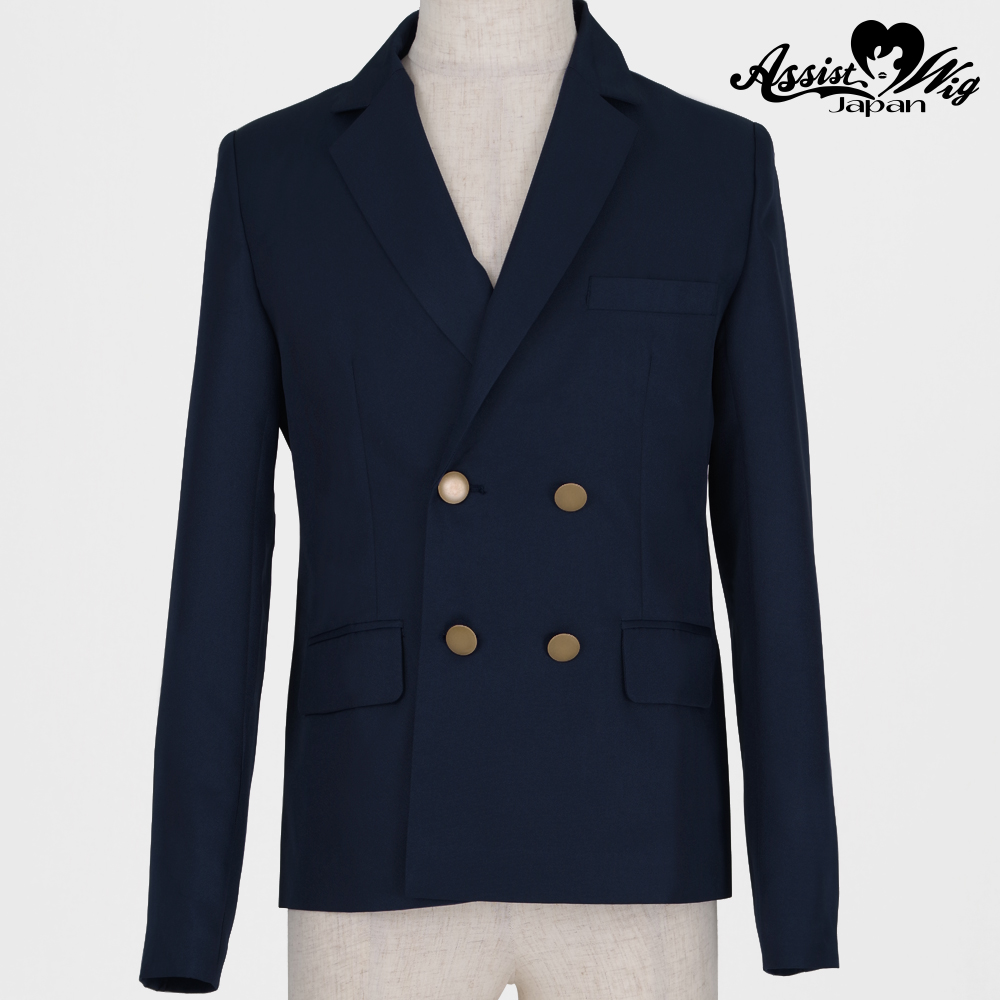 Renewal version double collar jacket Navy