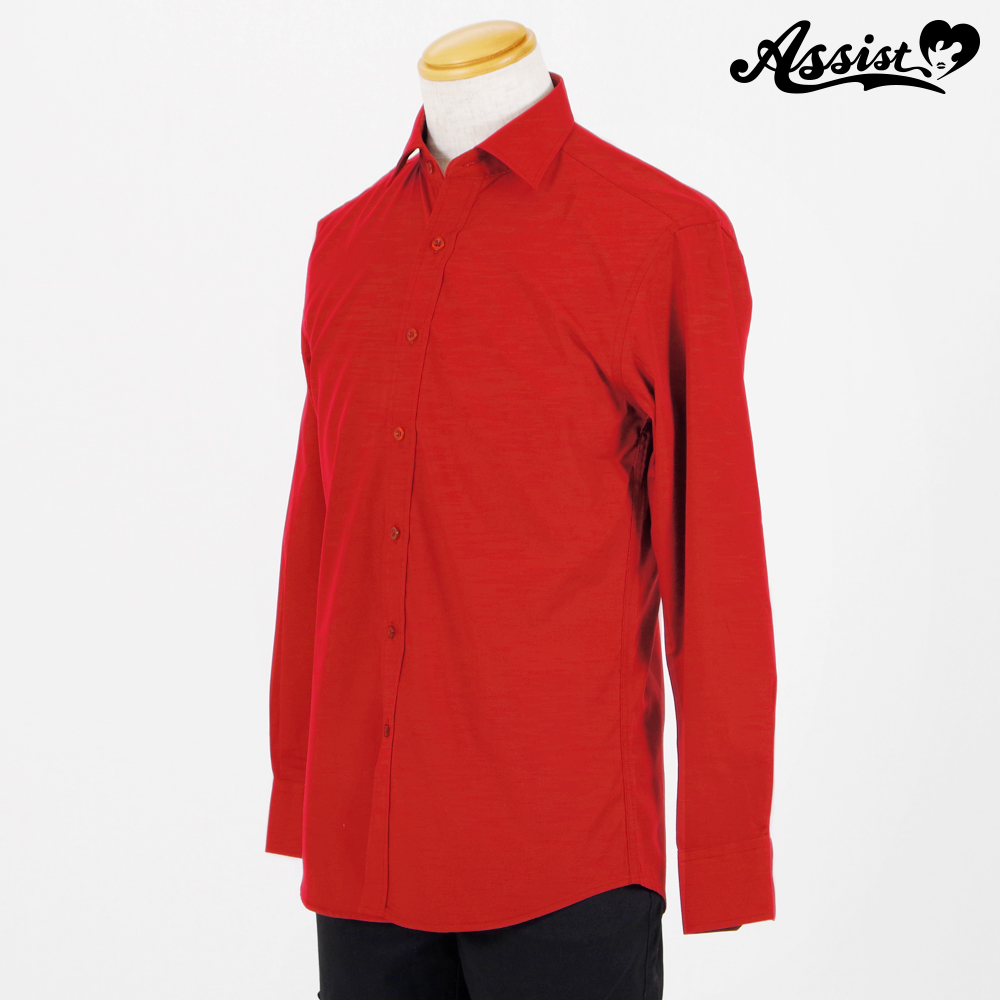 Color Shirt (Left Front / Long Sleeve) Red