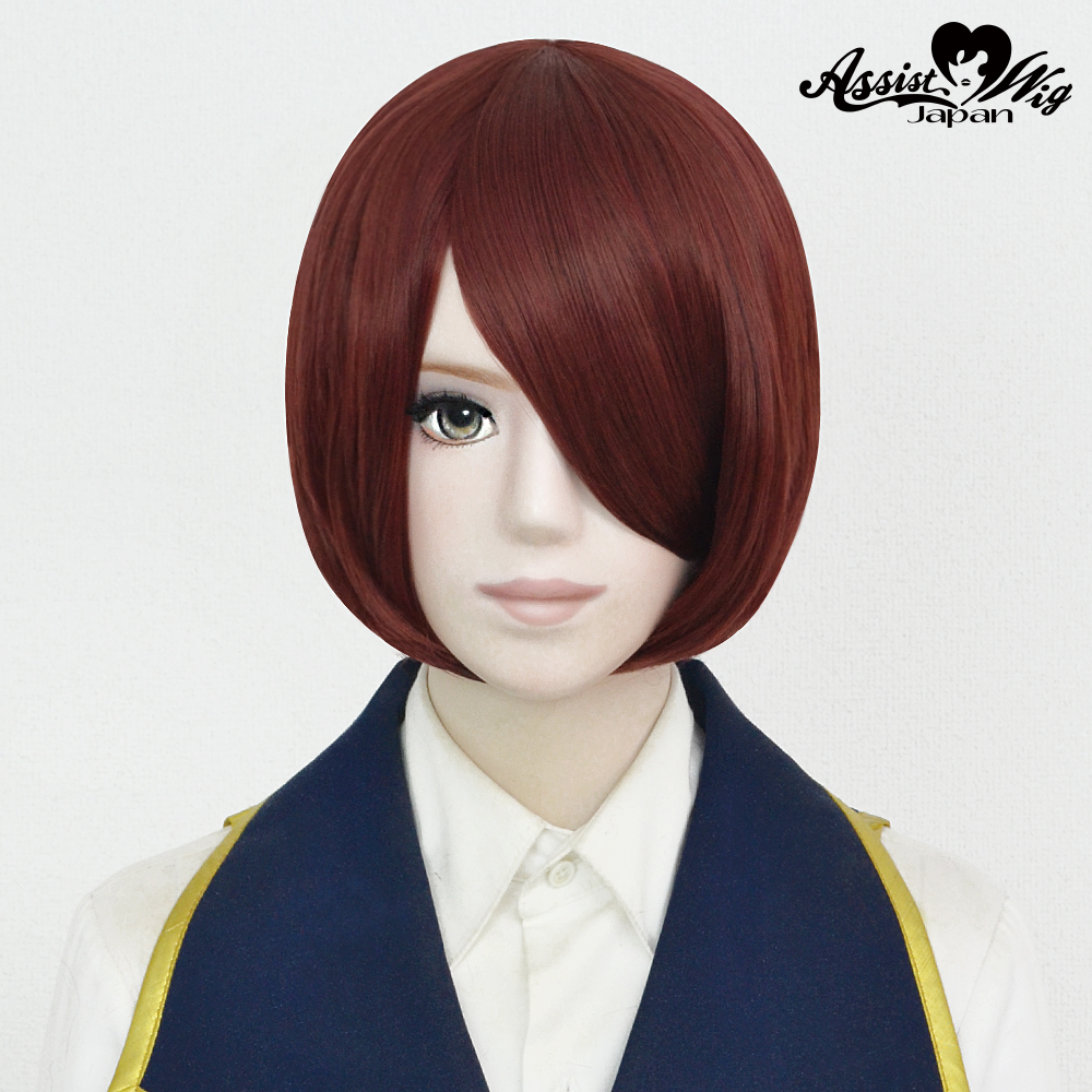 Short Bob Kai Brick Red 282