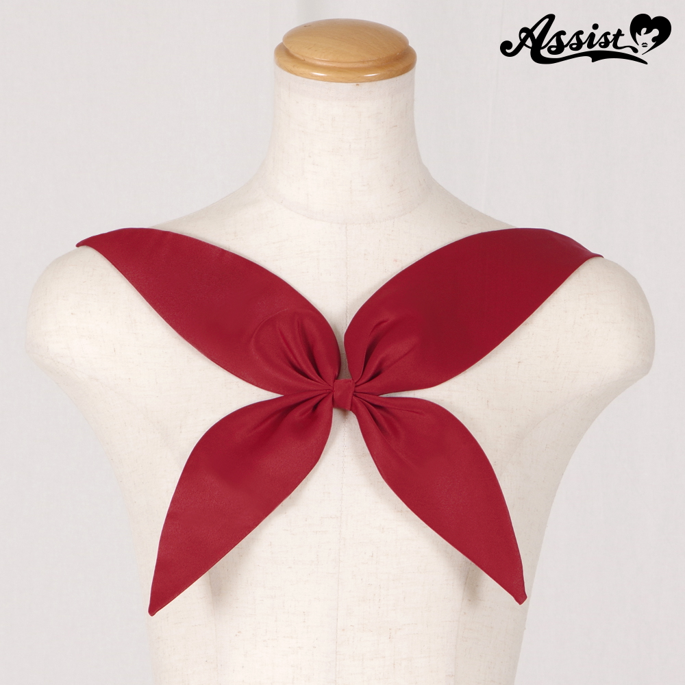 Scarf style ribbon Deep Red