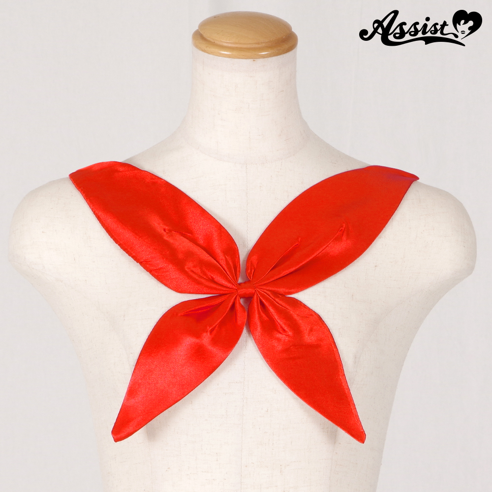 Scarf style ribbon Red